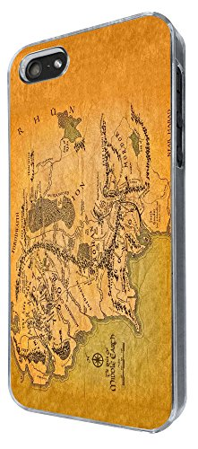 873 - Lord of the Ring map of middle earth Design iphone 4 4S Coque Fashion Trend Case Coque Protection Cover plastique et métal