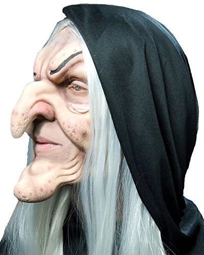 Prosthetic Latex Mask Foam (Halloween Mask- Hagatha Foam Latex Prosthetic Mask -Scary)