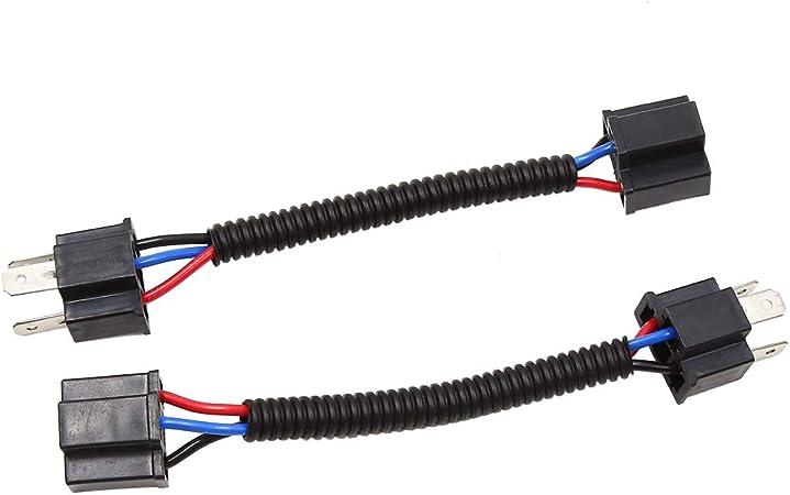 sourcing map 4pz CC12V H4 LAMPADINA LUCE cablaggio filo Connettore femmina prolunga convertitore adattatore