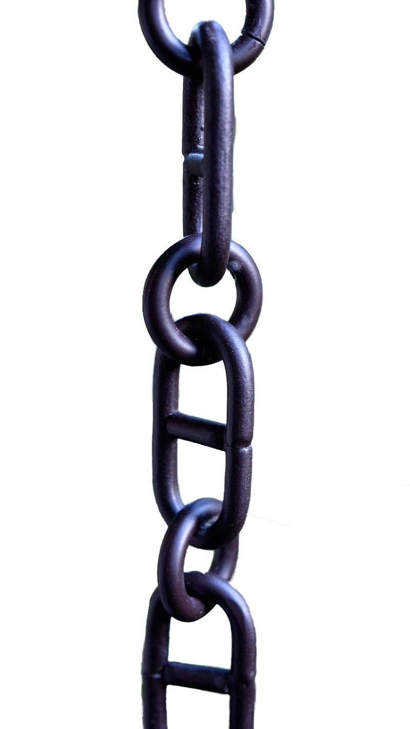 Aluminum Anchor RAIN Chain - Bronze Powder Coat with Installation KIT (9 Foot)