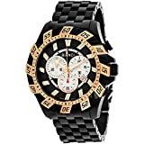 ROBERTO BIANCI WATCHES Men's 'Valentino' Swiss Quartz Stainless Steel Casual Watch, Color:Black (Model: RB70605)