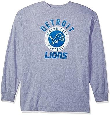 0dc37764d Amazon.com   NFL Detroit Lions Men L S TEE SCREEN TEE