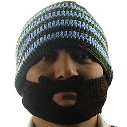 d2aee25ef58 Tobey xae Knit Winter Crochet Beard Beanie Mustache Mask Face Warmer Ski Hat  Cap