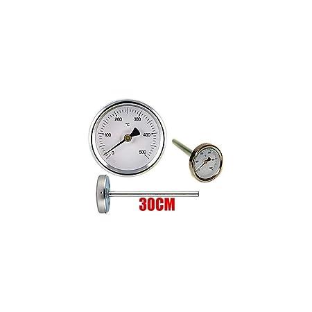 Termómetro de horno de leña - Barbacoa y humos 0 - 500 g con sonda ...