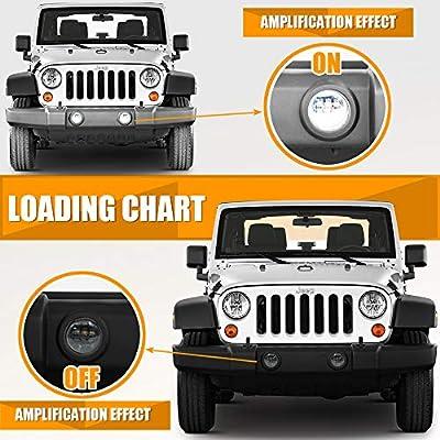 Galvor 4 Inch LED Fog Lights For 07-18 Jeep Wrangler JK Unlimited JK TJ LJ Driving fogLights Round Cree Fog lights Black Dot Approved(Pair): Automotive