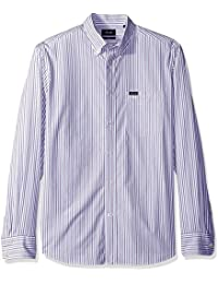 Men's Club Fit Thin Stripe Poplin Woven