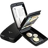 Tru Virtu Cash & Cards Oyster 2 Aluminium Wallet Rfid Block Black