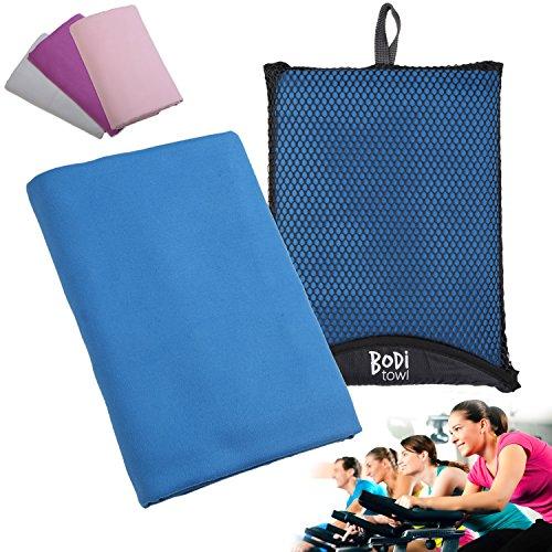 Bodi Towel Quick-Dry Lightweight Super-Absorbent Large Microfiber Towel, Blue, 130cm x 80cm -