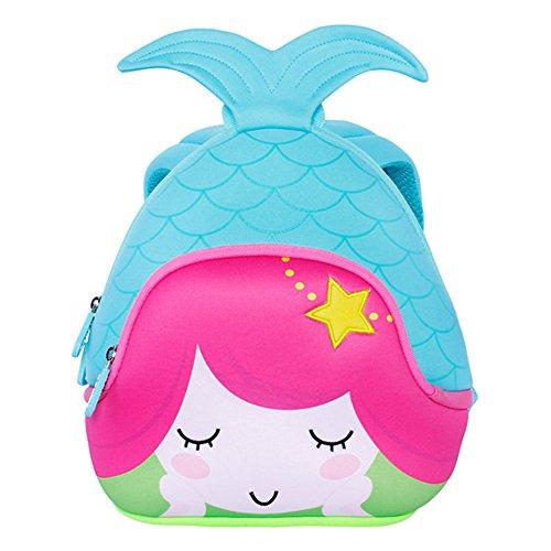 Alnaue Toddler Kids Pre School Bag Cute 3D Mermaid Animal Children School Backpack for girls -