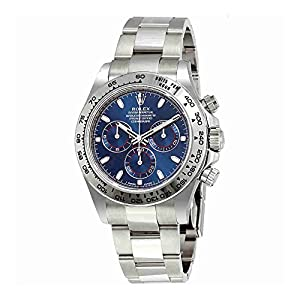 51Gt5MM9xiL. SS300  - Rolex Cosmograph Daytona Blue Dial 18K White Gold Oyster Mens Watch 116509BLSO