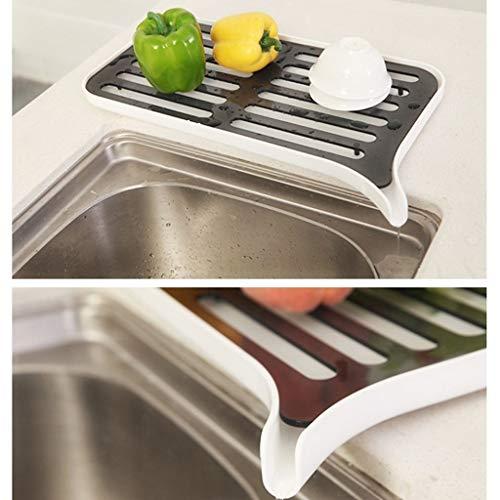 (MSOO Plastic Kitchen Dish Drainer Tray Double Layer Draining Box Water Drainage Shelf)