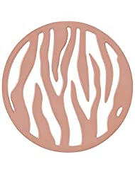 MS Koins Stainless Steel Coin Pin Stripes Pattern Rose Gold Plated Fits Our Coin Locket System, 30mm Diameter