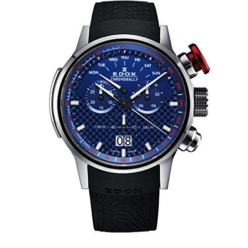 d3a708dab2b9 Edox Chronorally Reloj de Hombre Cuarzo 48mm Correa de Goma 38001 Tin BUIN   Amazon.es  Relojes