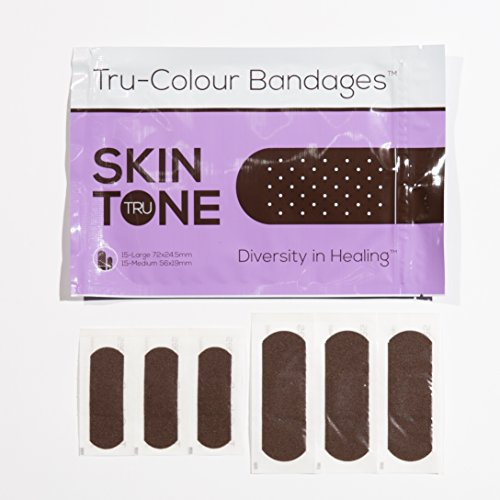 Tru-Colour Bandages Skin Tone Flexible Fabric Bandages Bag, - For Colors Skin Tone Your
