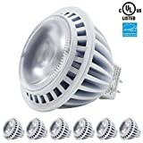 6-Pack 12V 7W Dimmable MR16 LED Bulb, ENERGY STAR UL-listed 50W Equivalent Spotlight MR16 Bulb, 2700K Warm White 40 Degree Beam Angle (Damp Location Available, 5 Year Warranty)