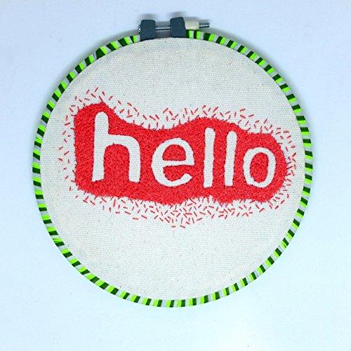 Embroidery Hoop Art Kit Handmade Cross Stitch Art Craft Sewing (Hello Pattern) from Matamade
