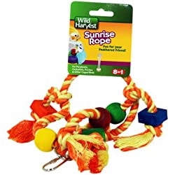 Wild Harvest Sunrise Rope Toy For Parakeets, Cockatiels And Finches - P-84153