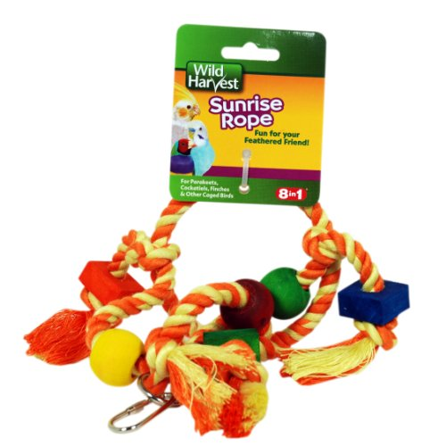 51Gt6cVKksL - Wild Harvest Sunrise Rope for Cockatiels/Parakeets/Finches (P-84153)