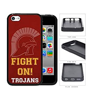 Fight On Trojans School Spirit Slogan Chant iPhone 5c Rubber Silicone TPU Cell Phone Case