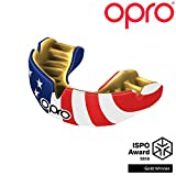 OPRO Power-Fit Mouthguard | Adult Handmade Gum Shield for Football, Rugby, Hockey, Wrestling, and Other Combat and Contact Sports - 18 Month Dental Warranty (Ages 10+) (USA)