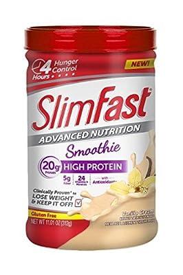 Slim Fast Advanced Nutrition High Protein Smoothie Powder, Vanilla Cream, 11.01 Ounce
