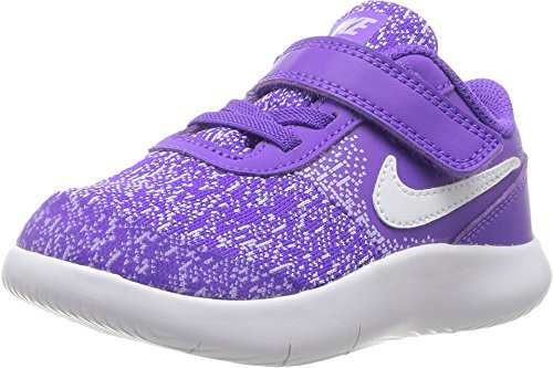 Nike Girl's Flex Contact (TDV) Running Shoes (9 Toddler M, Hyper Grape/White/Purple Agate)