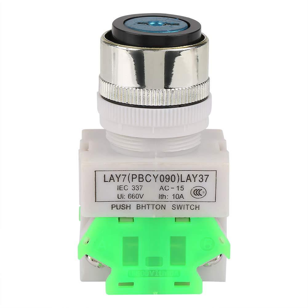 Interruptor de seguridad de 3 posiciones con interruptor de seguridad LAY37-20Y//31 220V 5A Selector giratorio de 22 mm con 2 llaves
