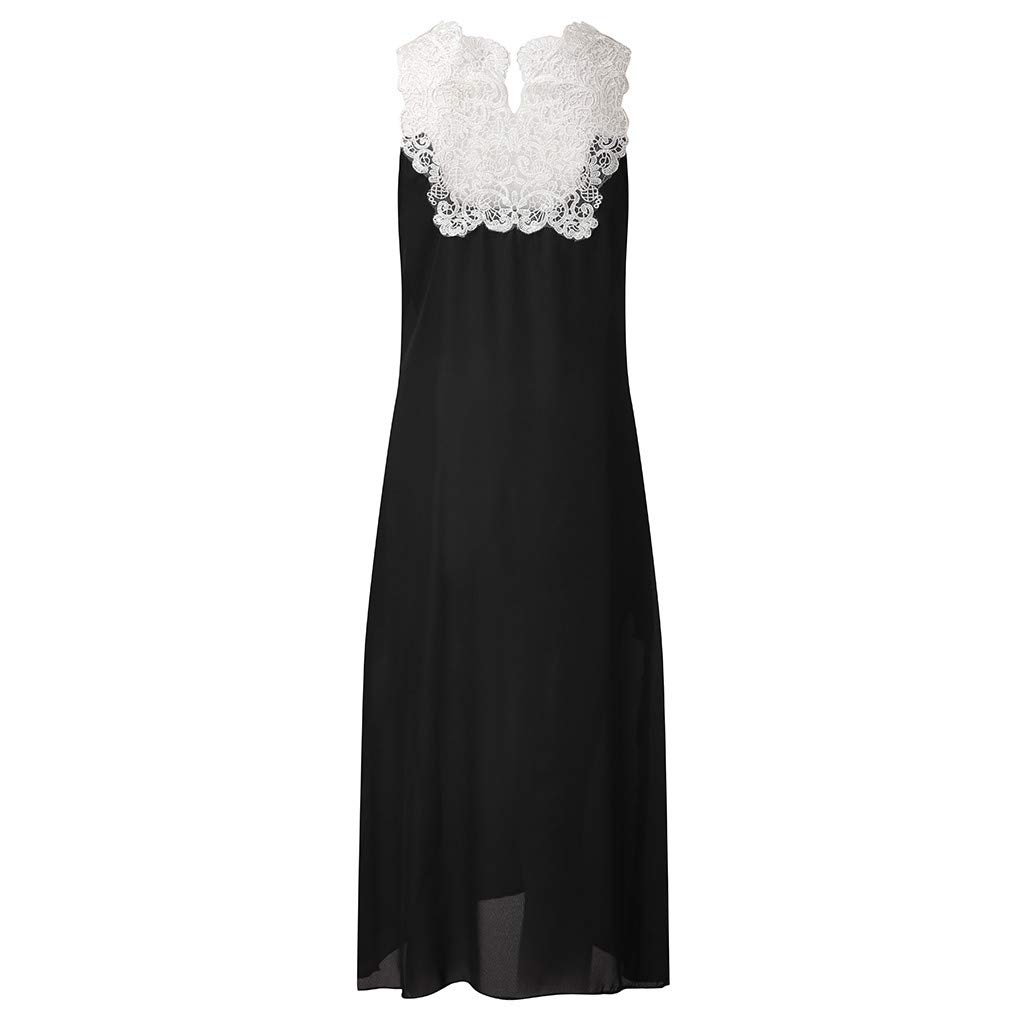 Women Sleeveless Floor Length Dresses Floral Printed Maxi Long T Shirt Dress Summer Beach Casual Maxi Dress by Lowprofile