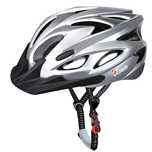 JBM Adult Cycling Bike Helmet Specialized for Mens Womens Safety Protection Red/Blue/Yellow (Silver, Adult)