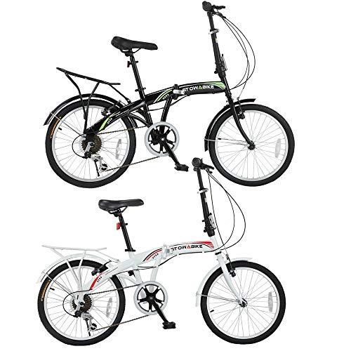 Stowabike 20' Folding City V3 Compact Foldable Bike – 6 Speed Shimano Gears