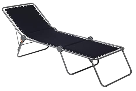 Sedia A Sdraio Classica Lafuma : Lafuma siesta lettino pieghevole modello notte struttura grigia