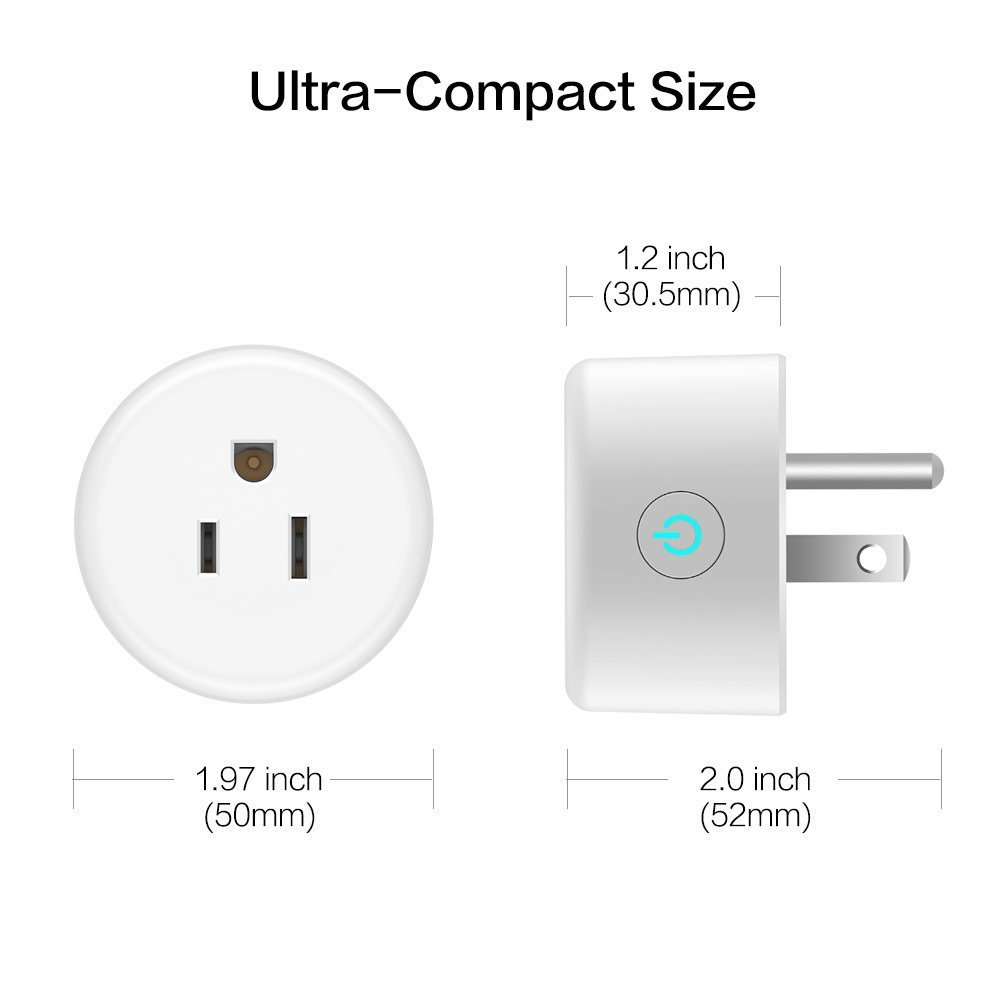 Smart Plug, Lightstory Mini Wi-Fi Socket Outlet Works with Alexa Echo/dot Compatible with Google Home Assistant IFTTT, Remote Control Your Devices from Anywhere, No Hub Required by LIGHTSTORY (Image #7)