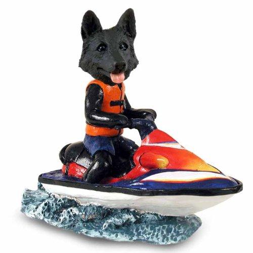 German Shepherd Black Jet Ski Doogie Collectable ()