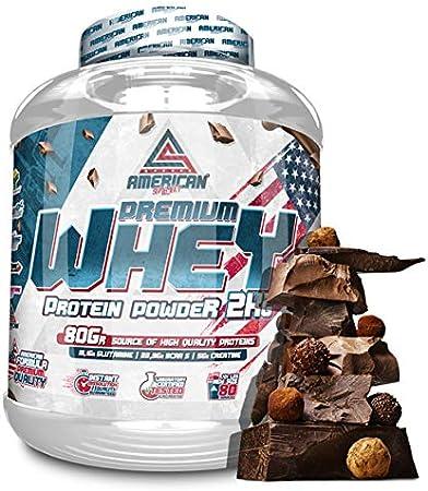 Premium Whey Proteína en Polvo, Whey protein, Suplementos deportivos, American Suplement, Chocolate - 2Kg