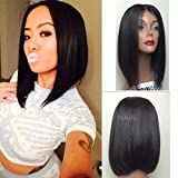 Vanessa Queen Short Bob Wigs Straight Hair Long Bob Synthetic Lace Front Wig 14Inch