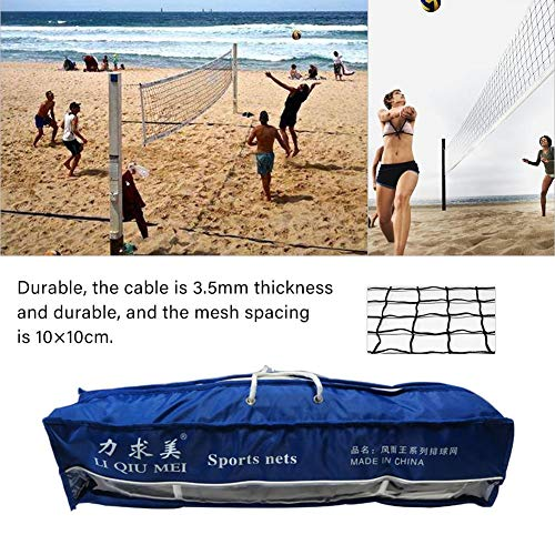 Hainter PVC Volleyball Net Mesh Standard Competition Professional Beach Volleyball Net for Indoor Outdoor