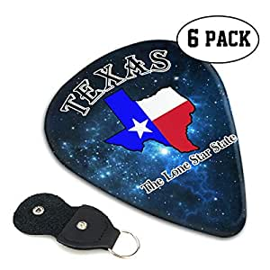 mz hy texas the lone star state personalized guitar picks unique guitar gift for. Black Bedroom Furniture Sets. Home Design Ideas