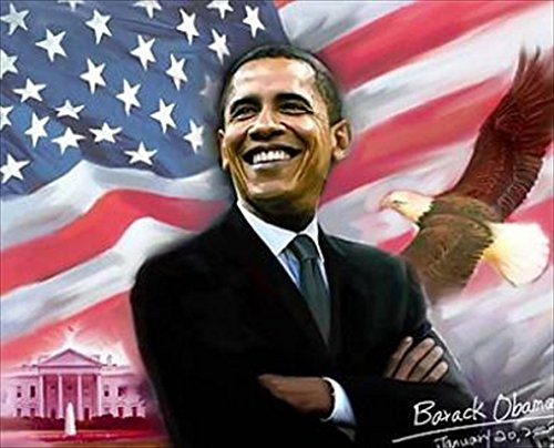 Autograph Warehouse 34387 Obama Art Piece On Canvas Print President