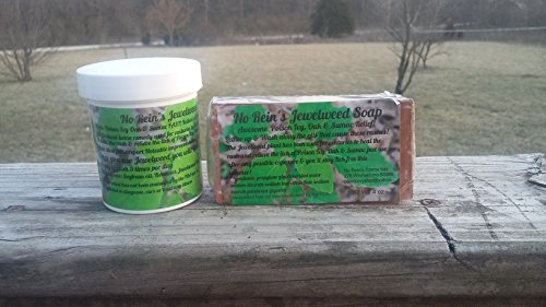 No Rein's Jewelweed Salve & Soap 2pk the Jewelweed Plant Is Commonly Used for Poison Ivy Oak and Sumac Wash Away Those Irratating Oils! (Ivy Homeopathic Remedies Poison)