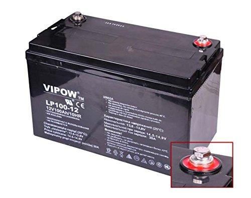 VIPOW Car Battery Gelakku Replacement Battery Gel Battery 12 V 100Ah: