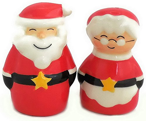 [Santa and Mrs. Claus Salt and Pepper Shakers Set , 2 1/2-inch Tall] (Santa And Mrs Claus Costumes)