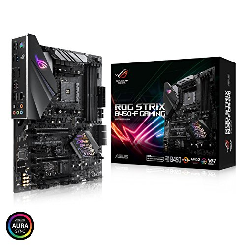 ASUS ROG Strix B450-F Gaming Motherboard (ATX) AMD Ryzen 2 AM4 DDR4 DP HDMI M.2 USB 3.1 Gen2 ()