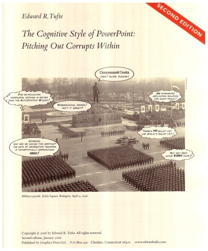 The Cognitive Style of PowerPoint: Pitching Out Corrupts Within, Second Edition (Edition 2) by Tufte, Edward R. [Paperback(2006??]