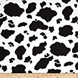 Heart of the Country Cowhide Black/White Fabric By The Yard
