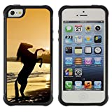 Lady Case@ Sunset Sea Horse Stallion Mustang Rugged Hybrid Armor Slim Protection Case Cover Shell For iphone 5S CASE Cover ,iphone 5 5S case,iphone5S plus cover ,Cases for iphone 5 5S