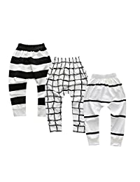 Unisex Toddler Kids Baby Boys Girls 3 Pack Cartoon Trouser Tapered Ankle Pants