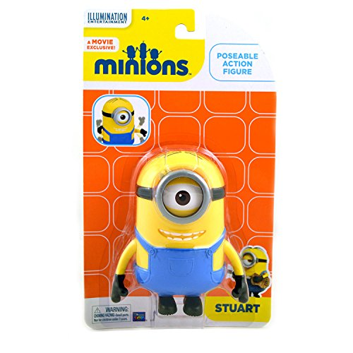 The Minions Stuart Poseable Action Figure [4.75 Inches]