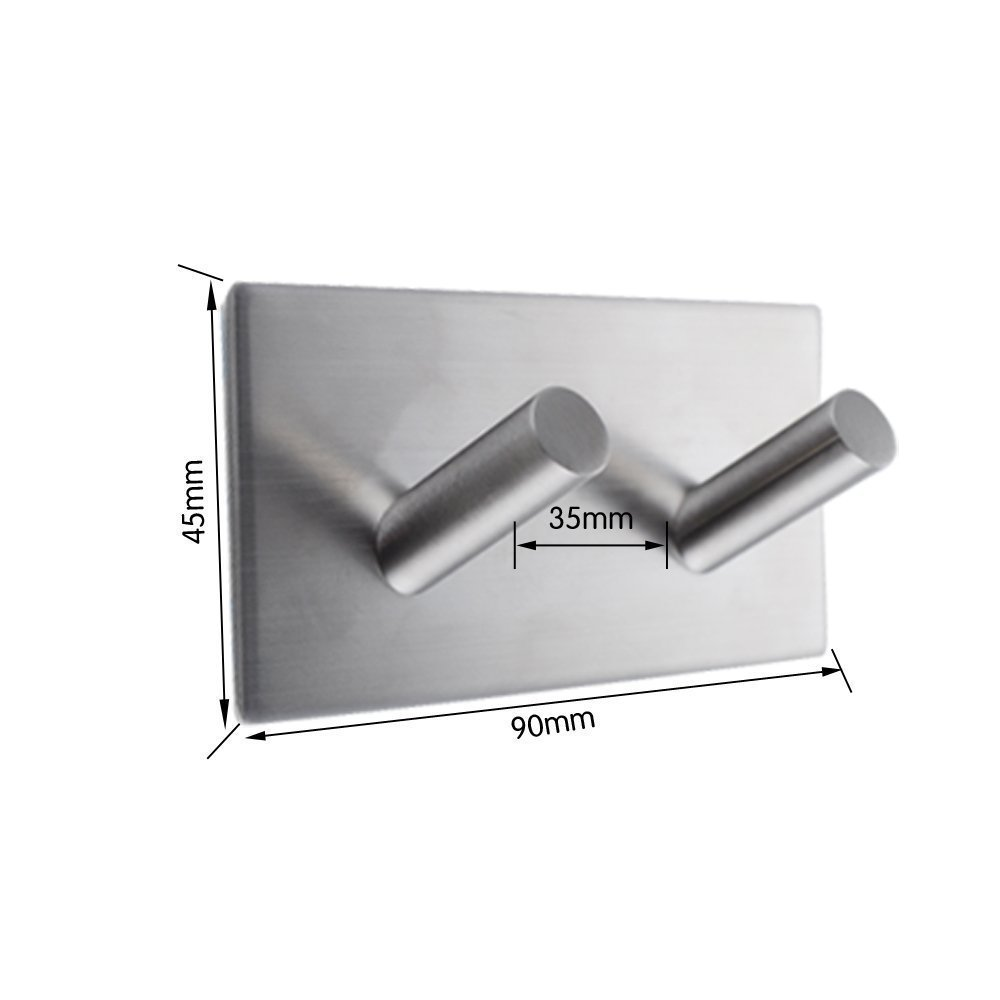 Back To Search Resultshome Improvement Bathroom Fixtures Sincere Leyden 3m Self Adhesive Stainless Steel Polished Chrome Brushed Nickel Wall Rack Hanging Towel Rod Towel Ring Shelf With Hooks Elegant In Style