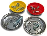 OCM 4 Pack Magnetic Parts Tray Set, Includes 2 Stainless 4 1/4-inch Diameter Bowls, 2...