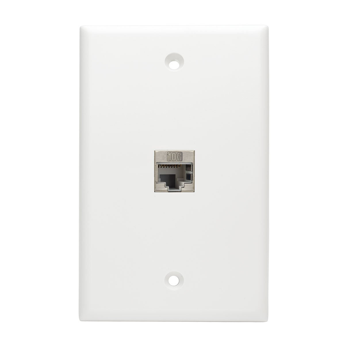 Tripp Lite Cat6a Straight Through Modular Shielded In Gt Enclosures Panels Boards Electrical Boxes Line Snap Coupler W 90 Degree Down Angled Port Rj45 F N235 001 Sh 6ad Computers